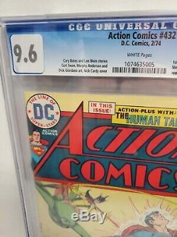 Action Comics 9.6 Cgc # 432 DC Comics 2/74 1er New Toyman App