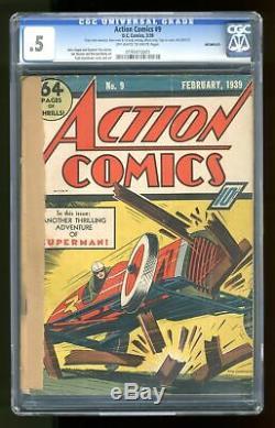 Action Comics # 9 Cgc 0,5 1939 0195410001