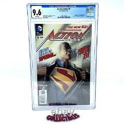Action Comics #9 Cgc 9.6 Nouveau 52 Calvin Ellis Origin Premier Superman Noir 2012
