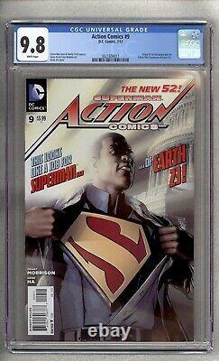 Action Comics #9 Cgc 9,8 1ère Application Complète Calvin Ellis Superman Earth-23 Pages Blanches