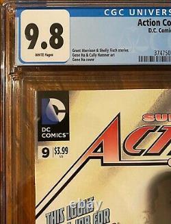 Action Comics #9 Cgc 9.8 Wp (1ère Application Complète Calvin Ellis Superman Earth 23)