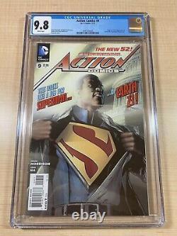 Action Comics #9 New 52! Première Calvin Ellis! Cgc 9,8! Belle Copie! DC 2012