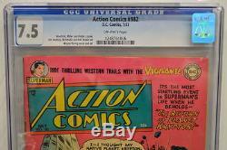 Action Comics N ° 182 Cgc 7.5 Superman 1953 3e Plus Élevé Classé
