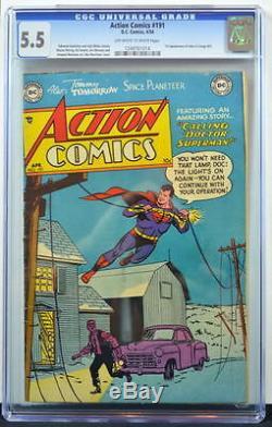 Action Comics N ° 191 Cgc 5.5 Superman 1954 1er App Janu Au Congo Bill