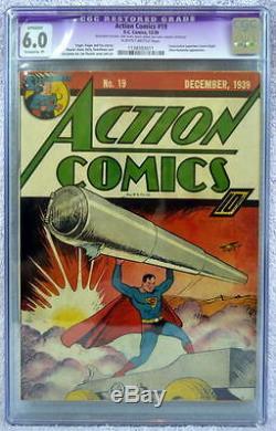 Action Comics N ° 19: Couverture Consécutive De La Cgc 6.0 Pour Superman 1939 Application Ultra-humanite