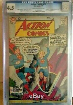 Action Comics N ° 252 Cgc 4.5 Première Supergirl