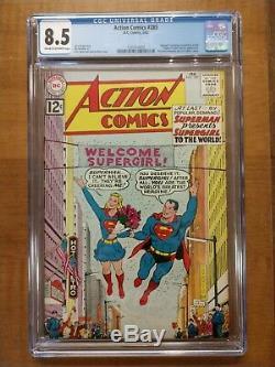 Action Comics N ° 285 (février 1962) Cgc 8.5 L'existence De Supergirl Révélée, DC