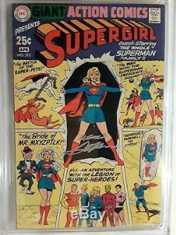 Action Comics N ° 373 (cgc 7.0) 1969, Pochette Et Application De Supergirl Signées Par Neal Adams