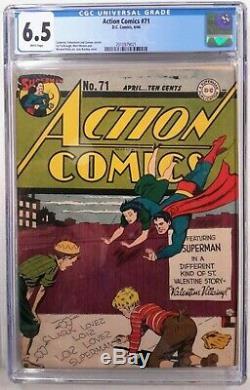 Action Comics N ° 71 Cgc 6.5 (avril 1944, Dc) Journée Des Supermanvalentins Storywow