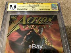Action Comics Superman 1000 Cgc 9.6 Ss 5x Signé Jim Lee Feuille D'or DC Boutique