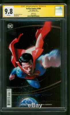 Action Comics Superman 1000 Cgc 9.8 Ss Jeff Dekal Metallic Blue Variant