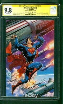 Action Comics Superman 1000 Cgc 9.8 Ss Tony Daniel Uncanny Virgin Comics Variant