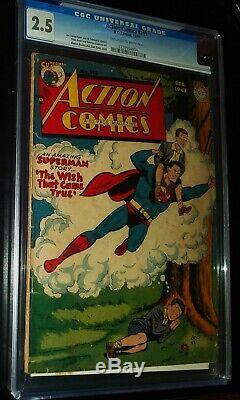 Action Comics Superman # 115 1947 D. C. DC Comics Cgc 2.5 Bon +