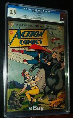 Action Comics Superman # 140 1950 D. C. DC Comics Cgc 2.5 Bon +