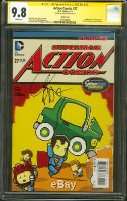 Action Comics Superman 27 Cgc Ss 9.8 Greg Pak Scribblenauts 1 Hommage Variant