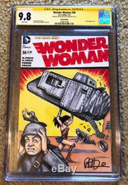 Action Comics Wonder Woman # 1 Cgc 9.8 Scott Blair Sketch Originale Couverture