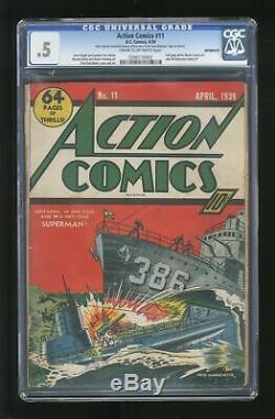 Action Comics (dc) # 11 1939 Cgc 0.5 0266116003