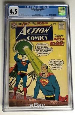 Action Comics (dc) # 254 1959 Cgc Classé 4.5 Premier Adulte Bizzaro