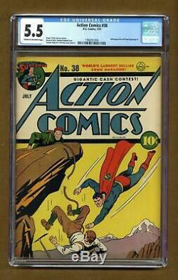 Action Comics (dc) # 38 1941 Ccg 5.5 1998251004