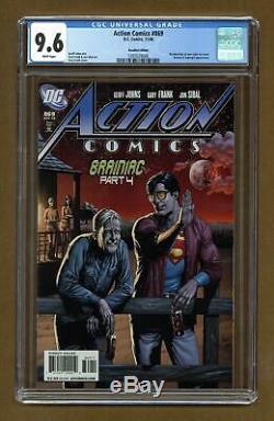 Action Comics (dc) # 869b 2008, Variante De Bière Rappelée Cgc 9.6 1397029008
