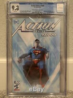 Action / Detective Comics # 1000 Variantes Dellotto All Cgc 9.8 Nm / Mt
