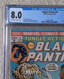 Action No 6 De La Jungle Cgc 8.0 Vol. 1 (septembre 1973, Marvel) 1ère Application Killmonger