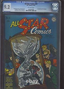 All Star Comics #35 Cgc Nm- 9.2 Ow 1ère Application. Per Degaton