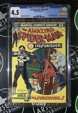 Amazing Spider-man #129 1974 Marvel Comics Cgc 4.5 1ère App The Punisher