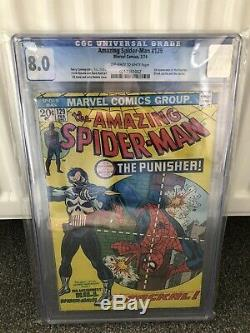 Amazing Spider-man # 129 (premier Numéro De Punisher) Cgc 8.0