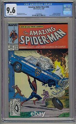 Amazing Spider-man #306 Cgc 9,6 Pages Blanches Action Comics 1 Hommage Mcfarlane