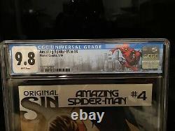 Amazing Spider-man #4 1ère Apparition Silk Cgc 9.8 Hot Book White Pages Nouveau Film