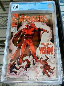 Avengers # 57 Cgc 7.0 Première Vision Mcu Wanda Disney+ Marvel Comics 1968 Key Isue