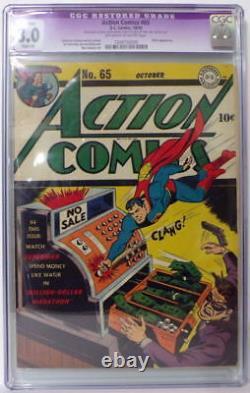 Bandes Dessinées À Action # 65 Cgc 8,0 Superman 1943 Hitler Apparence