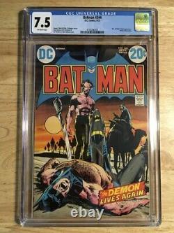 Batman #244 Cgc 7.5 (vf-) Ras Al Ghul 1972 Neal Adams Bronze Âge DC Comics