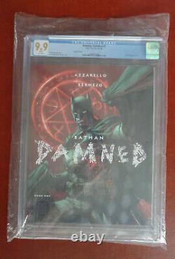 Batman Damné #1 Cgc 9,9 Mint DC Comics Jim Lee Variant Couverture Non Centralée