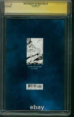 Batman Dark Knight III 9 Cgc 4xss 9.6 Frank Miller Action Comics 1100 Variante