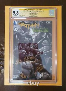 Batman/tmnt #1 Conquest Comics Sketch Edition #2 Of 16. 4 Signitures + Croquis