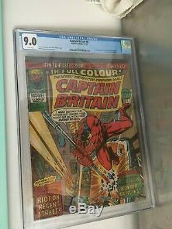 Captain Britain # 8 Cgc 9.0 1ère Apparition D'elisabeth Betsy Braddock Psylocke