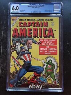 Captaine America Comics #78 Cgc Fn 6.0 Ow-w Torche Humaine, Toro App Dernier Numéro