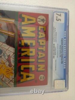 Captenir Les Comics Ameriques # 56 Cgc 7.5 Owithwhite Pages
