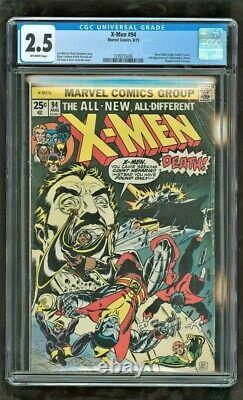 Cgc 2,5 X-men #94 Marvel Comics 1975 1ère Place De La Nouvelle Équipe (film Mcu Bientôt)