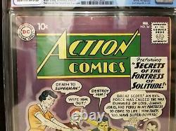 Cgc 5.0 Action Comics # 261 1ère Apparition De Streaky 1960 Silver Age Superman