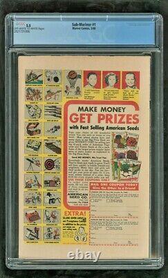 Cgc 5.5 Sous-marinier #1 Marvel Comics 1968 Origin Retold Beau Livre Vintage