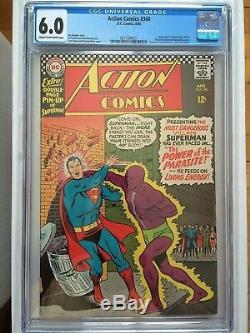 Cgc 6.0 Action Comics # 340 Crème Ow1966origin Et 1er App. Parasitenew Cas