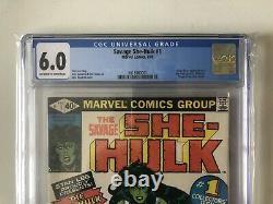 Cgc 6.0 Savage She-hulk #1 Marvel Comics