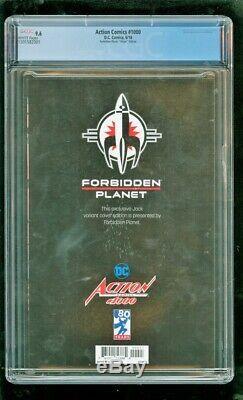 Cgc 9,6 Action Comics # 1000 D. C. Comics 6/2018 Planète Interdite Virgin Édition