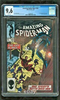 Cgc 9.6 Amazing Spider-man #265 Marvel Comics 1985 1ère Proportion De Sable Argenté
