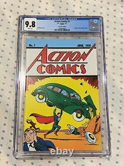 Cgc 9.8 DC Action Comics #1 Loot Crate Réimpression 1er Superman Best Version Inc Coa