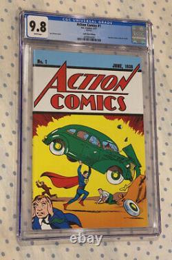 Cgc 9.8 DC Action Comics #1 Loot Crate Réimpression 1ère Superman Best Version /w Coa