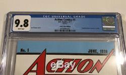 Cgc 9.8 DC Comics # 1 Action Loot Crate Reprint 1st App Superman Meilleure Version